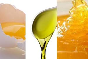 мед яйцо и масло для волос