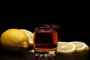 коньяк и лимон