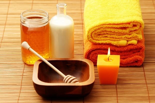 Маска для волос с мёдом и кефиром