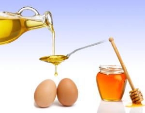 маска с медом яйцом и маслом