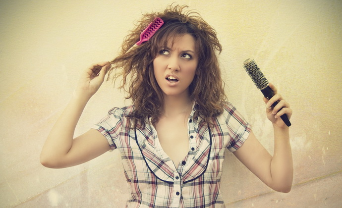 причина секущихся волос