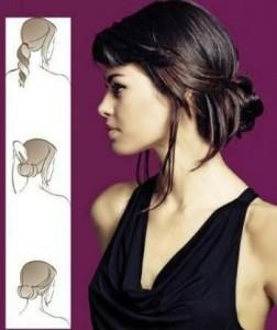 причёска пучок на короткие волосы
