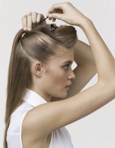 закалываем волосы