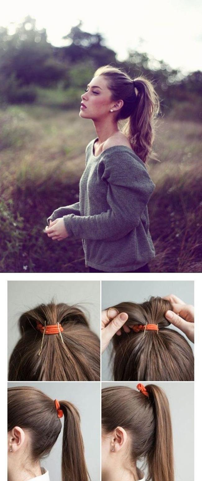 Как сделать хвост только из волос 441