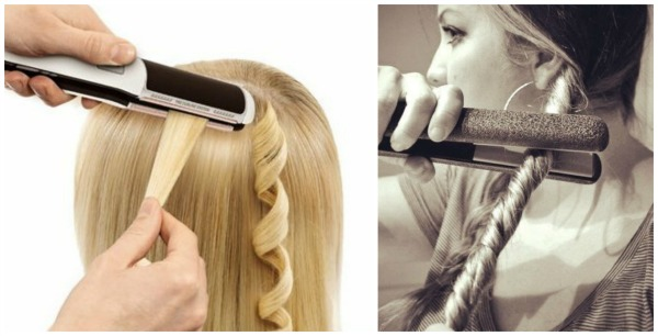 Как на выпрямитель накрутить волосы видео