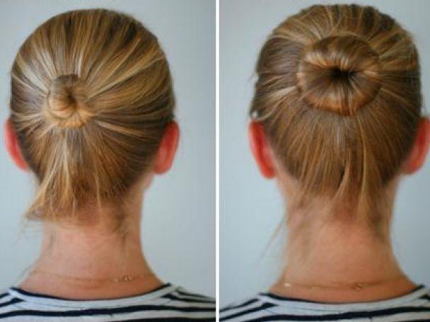Как сделать шишку на голове из волос