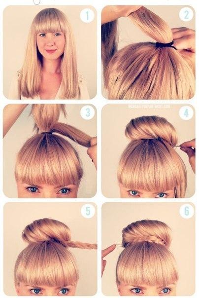 Как сделать объёмную шишку из волос