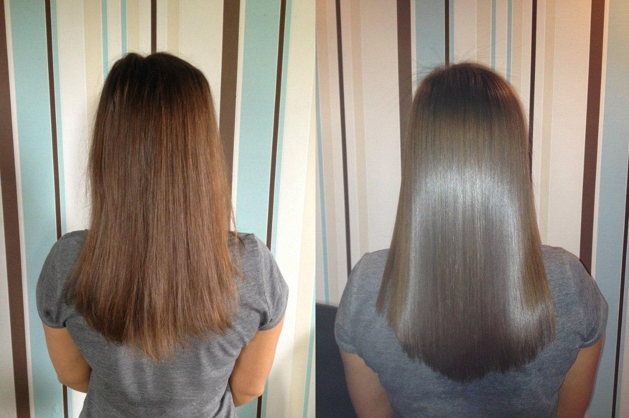 Как сделать кератиновое выпрямление волос фото 20