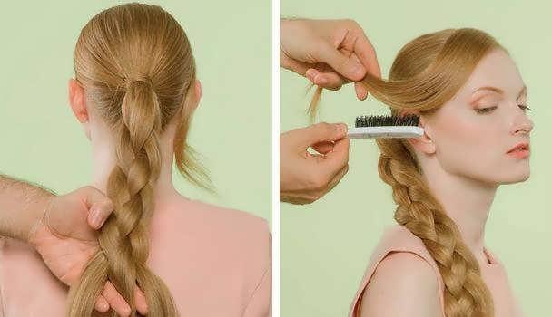 как плетется коса из 4 прядей