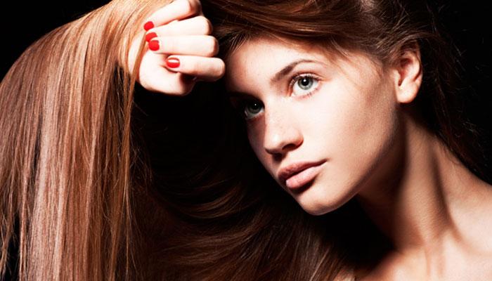 Прямые волосы после ламинирования