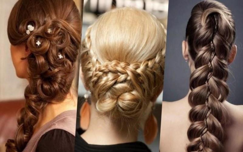 Объёмные косички на длинные волосы