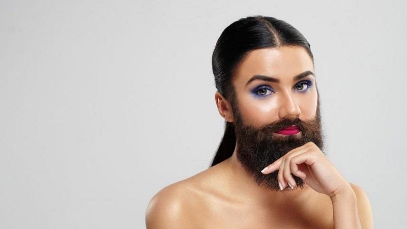 к чему снятся усы у женщины у себя на лице